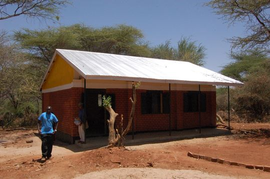 New classroom now built at the new secondary school at Kamketo